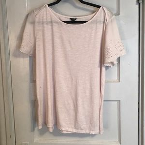 Ann Taylor Pink Cut Out Sleeves